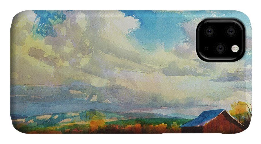 Country IPhone Case featuring the painting Lonesome Barn by Steve Henderson