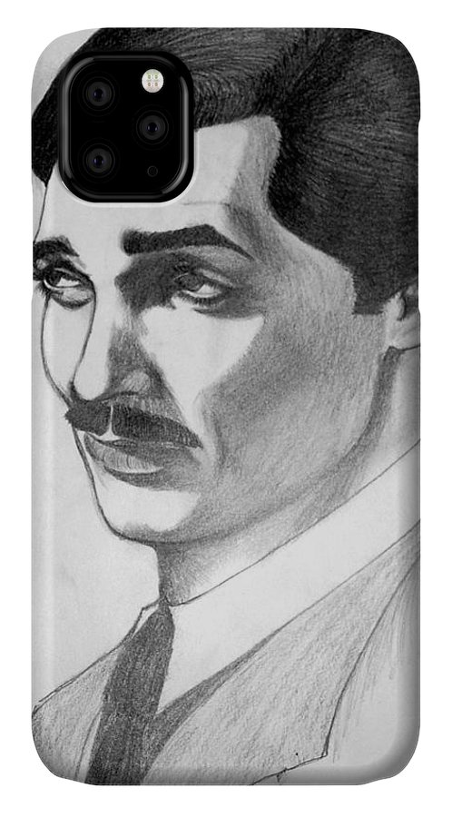 Portrait IPhone Case featuring the drawing Long Live the King by Marco Morales