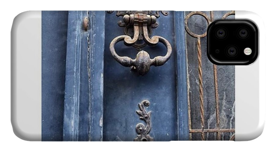 Europe IPhone 11 Case featuring the photograph #love #france #doors #blue #europe by Georgia Fowler