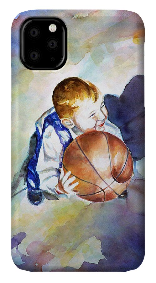 Watercolor IPhone Case featuring the painting Loves the Game by Shannon Grissom