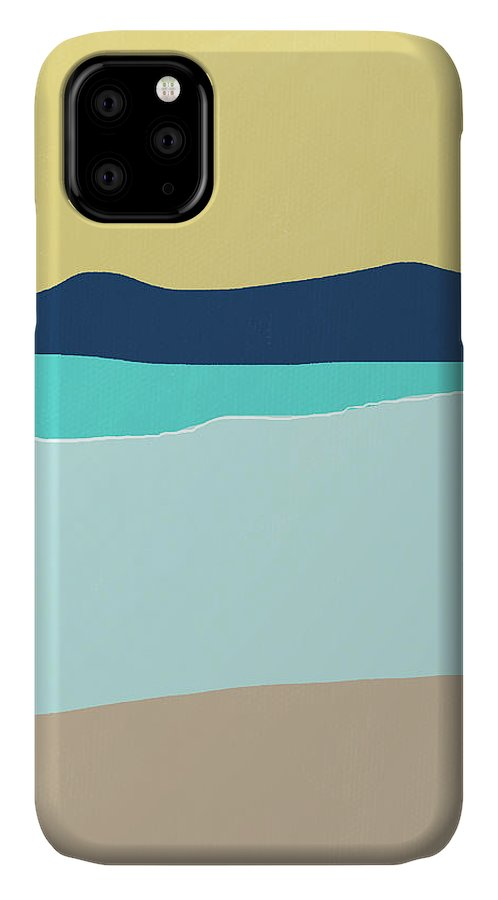 Beach IPhone 11 Case featuring the mixed media Low Tide- Art By Linda Woods by Linda Woods