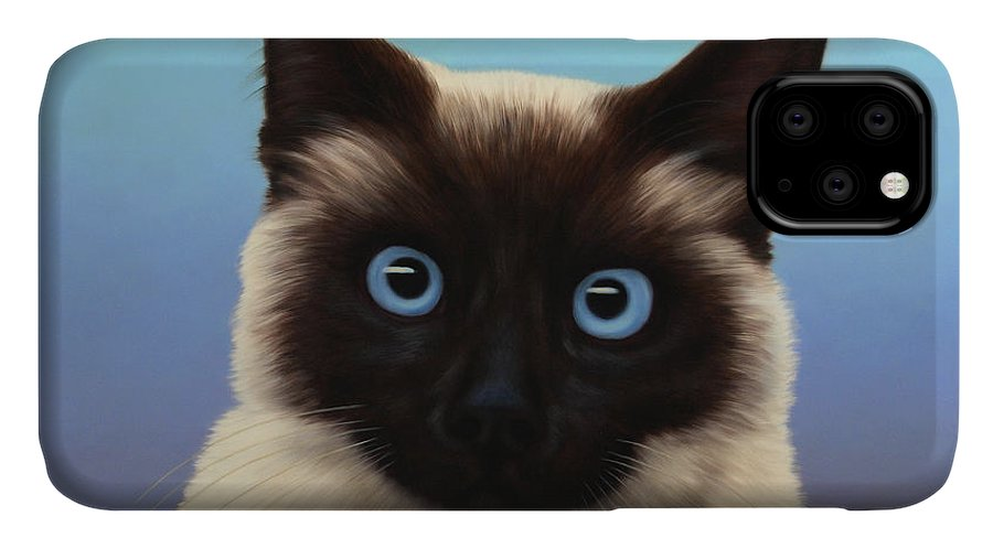 Cat IPhone Case featuring the painting Machka 2001 by James W Johnson