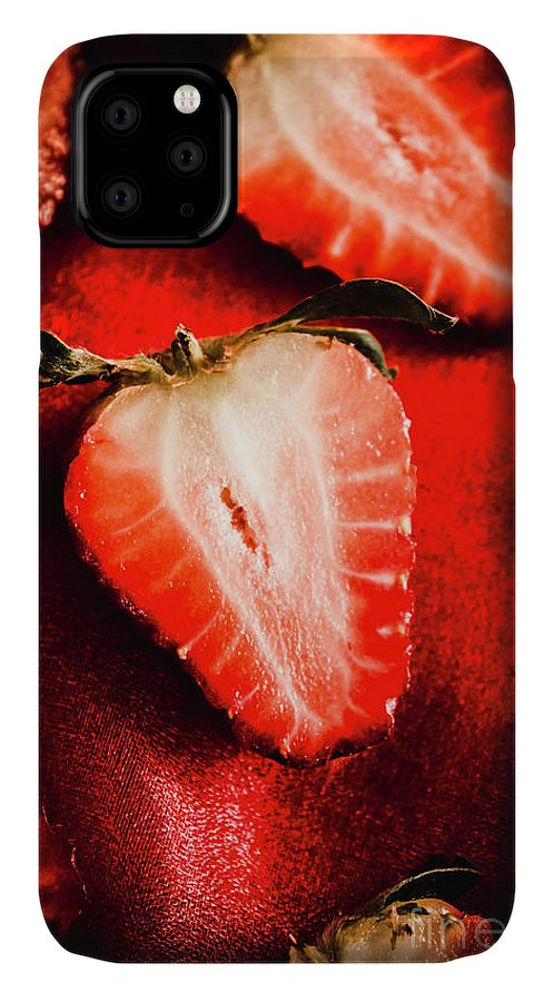 Fruits IPhone 11 Case featuring the photograph Macro Shot Of Ripe Strawberry by Jorgo Photography - Wall Art Gallery