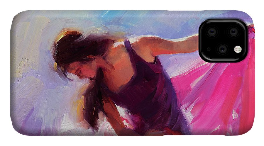 Woman IPhone Case featuring the painting Magenta by Steve Henderson