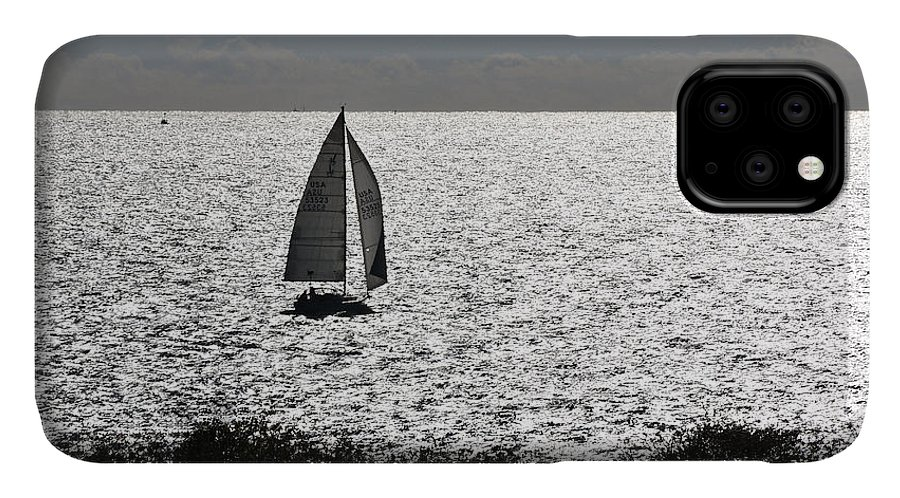 Maine IPhone Case featuring the photograph maine 44 Sailboat by Terri Winkler