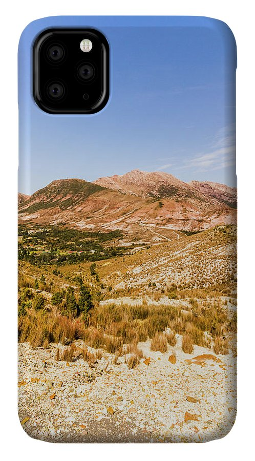 Australian IPhone Case featuring the photograph Majestic Arid Peaks by Jorgo Photography - Wall Art Gallery