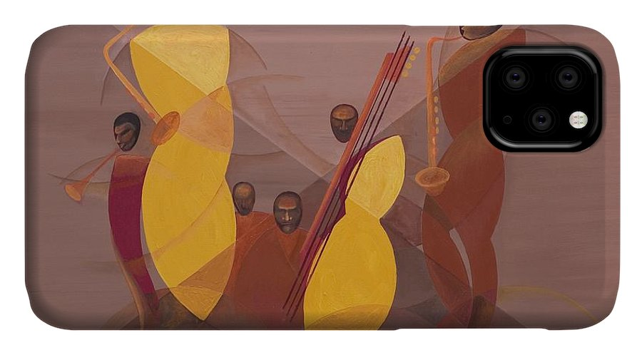 Mango Jazz IPhone Case featuring the painting Mango Jazz by Kaaria Mucherera