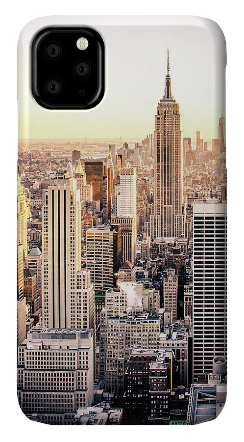 Nyc IPhone 11 Case featuring the photograph Manhattan by Michael Weber