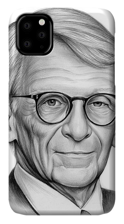 Mayor IPhone 11 Case featuring the drawing Mayor Riley by Greg Joens