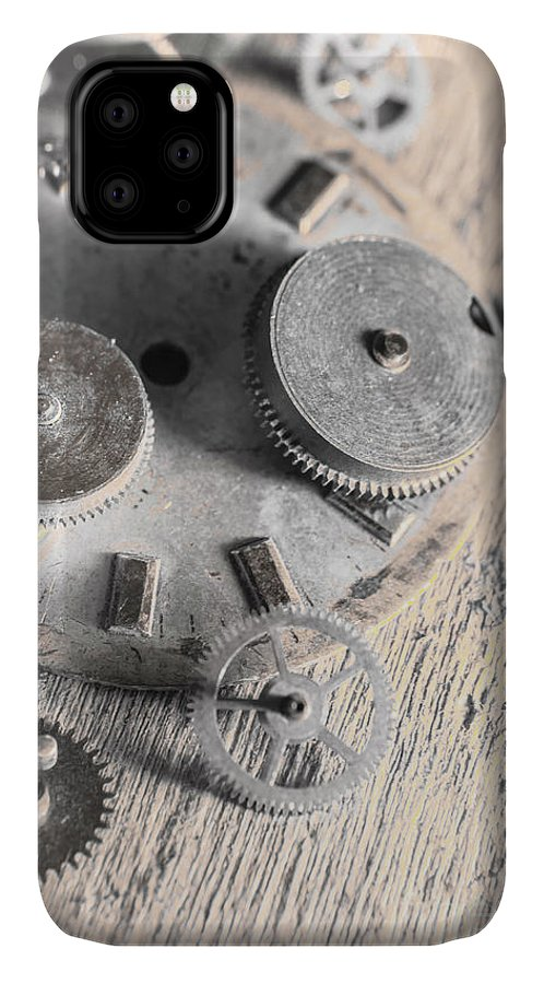 Machine IPhone 11 Case featuring the photograph Mechanical Art by Jorgo Photography - Wall Art Gallery