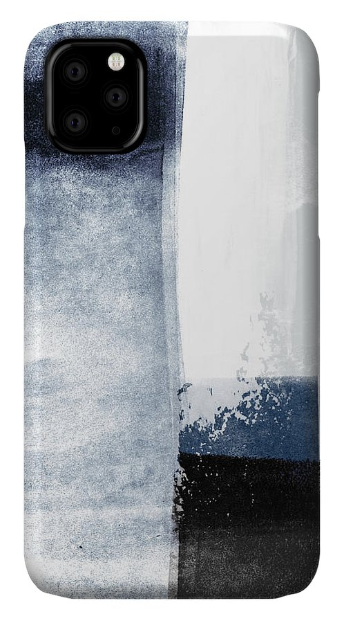 Blue IPhone 11 Case featuring the mixed media Mestro 3- Abstract Art By Linda Woods by Linda Woods