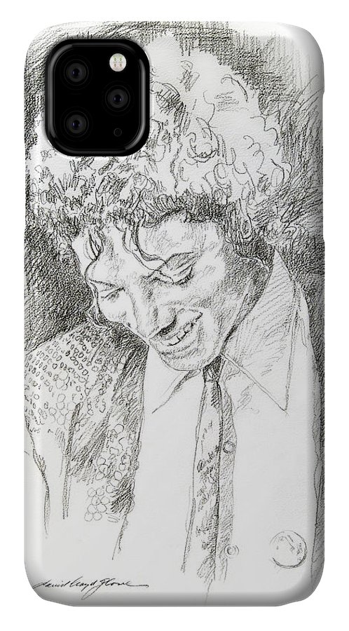 Michael Jackson IPhone Case featuring the drawing Michael Jackson - Remember the Time by David Lloyd Glover