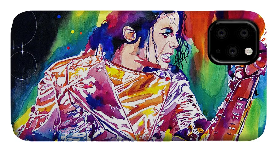 Michael Jackson IPhone Case featuring the painting Michael Jackson Showstopper by David Lloyd Glover