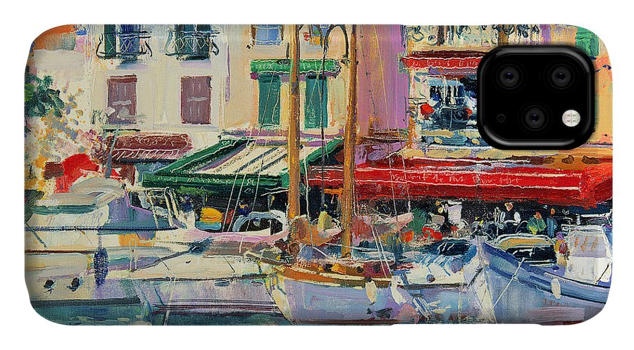 Pier IPhone Case featuring the painting Mirabeau by Peter Graham