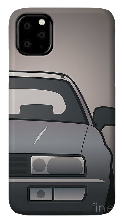 Car IPhone Case featuring the digital art Modern Euro Icons Series Vw Corrado Vr6 by Monkey Crisis On Mars