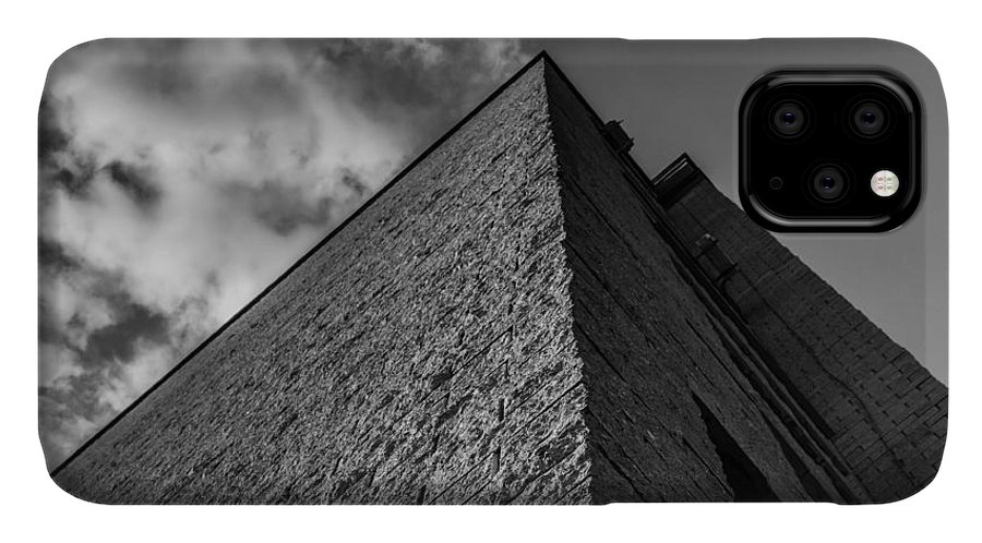 Abstract IPhone Case featuring the photograph Modern Pyramid Effect Style Building by John Williams