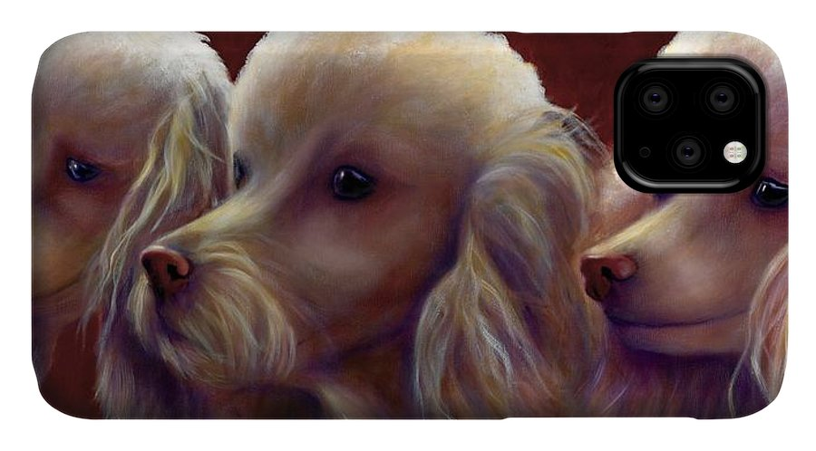 Dogs IPhone Case featuring the painting Molly Charlie and Abby by Shannon Grissom