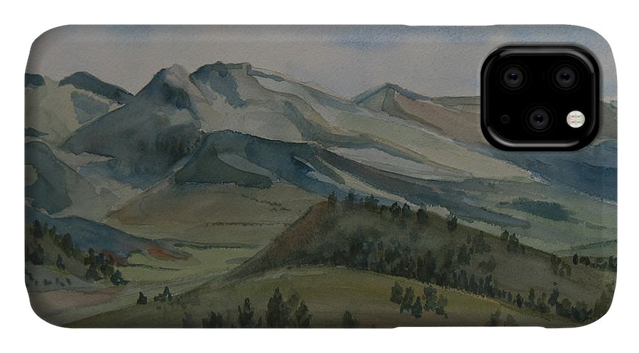 Montana IPhone Case featuring the painting Montana Skyline by Jenny Armitage