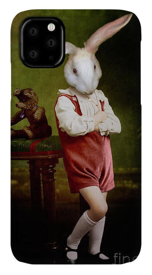 Rabbit IPhone Case featuring the digital art Moody Alexander by Martine Roch