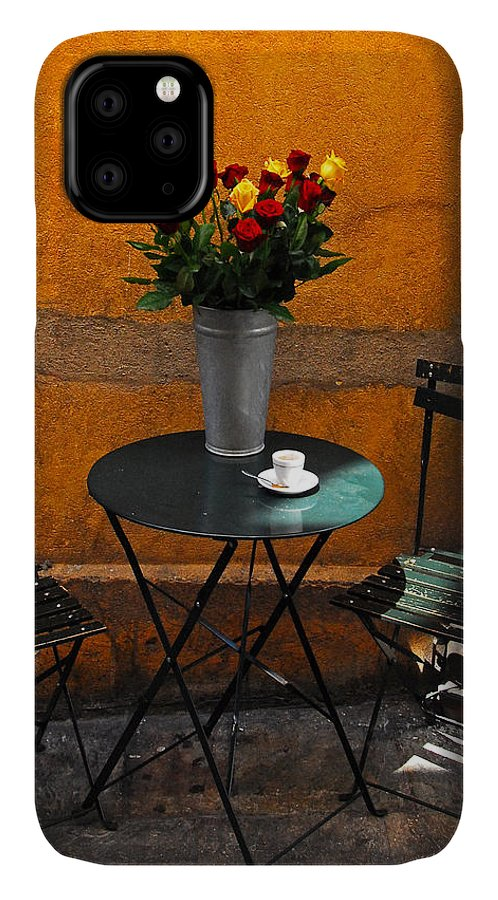Color Photograph IPhone Case featuring the photograph Morning Coffee  France by Dan Albright