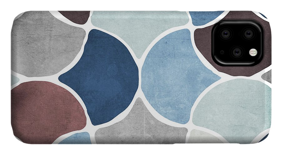 Pattern IPhone 11 Case featuring the painting Moroccan Blues by Mindy Sommers