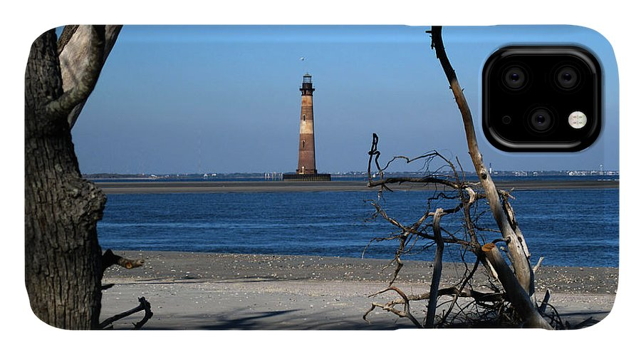 Photography IPhone 11 Case featuring the photograph Morris Island Lighthouse Charleston Sc by Susanne Van Hulst