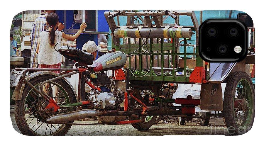 Vietnam IPhone Case featuring the photograph Vietnamese Motorized Rickshaw by Rich Walter