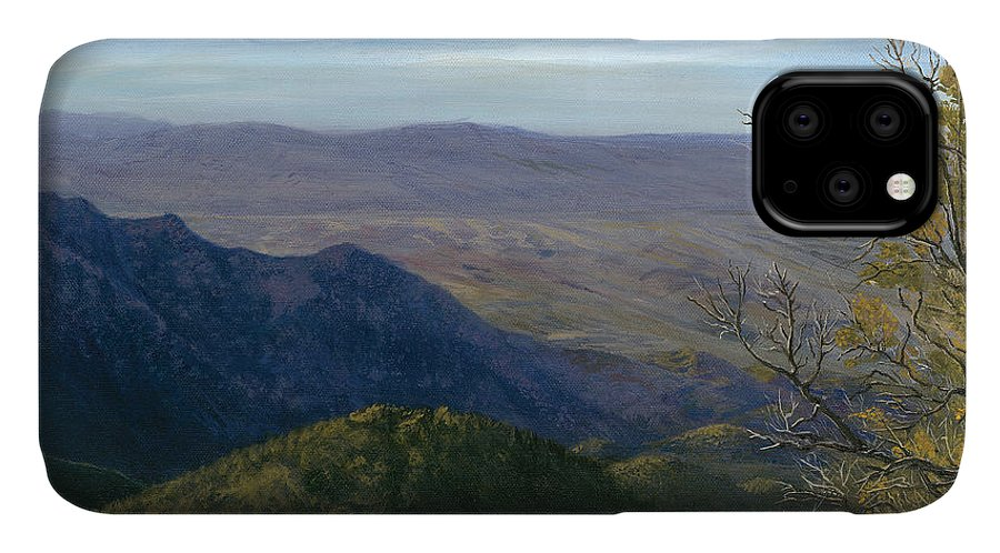Mountain IPhone Case featuring the painting Mt. Rison by Sean Koziel