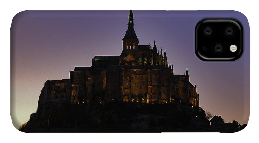 Color Photograph IPhone Case featuring the photograph Mt St Michel by Dan Albright