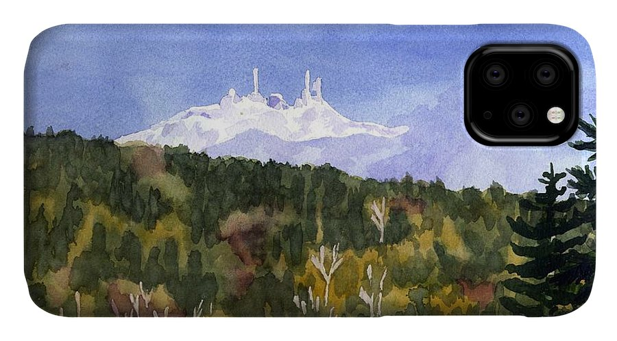 Landscape IPhone Case featuring the painting Almost Mystical by Sharon E Allen