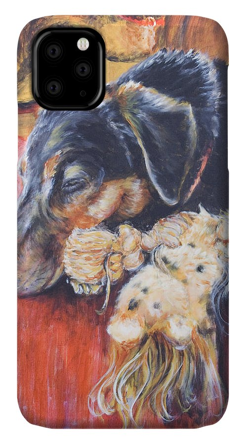 Dog IPhone Case featuring the painting Murphy VIII by Nik Helbig