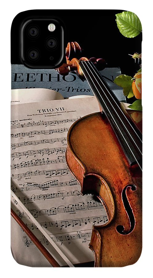 Strad IPhone Case featuring the photograph Music Is A Moral Law by Endre Balogh