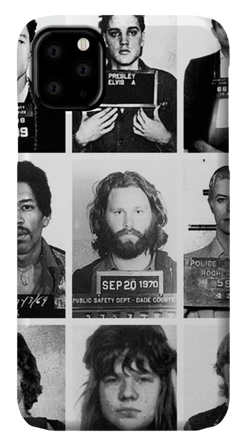 Jimi Hendrix IPhone Case featuring the photograph Musical Mug Shots Three Legends Very Large Original Photo 9 by Tony Rubino