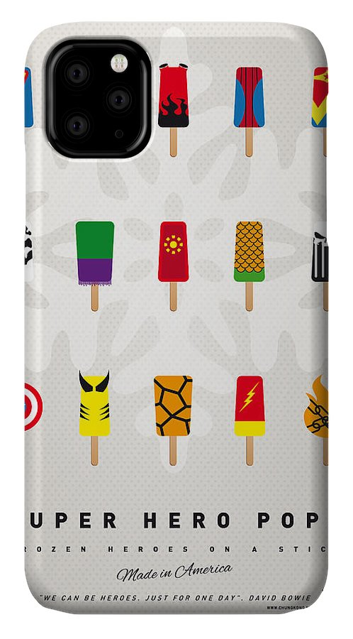 Superheroes IPhone Case featuring the digital art My Superhero Ice Pop - Univers by Chungkong Art