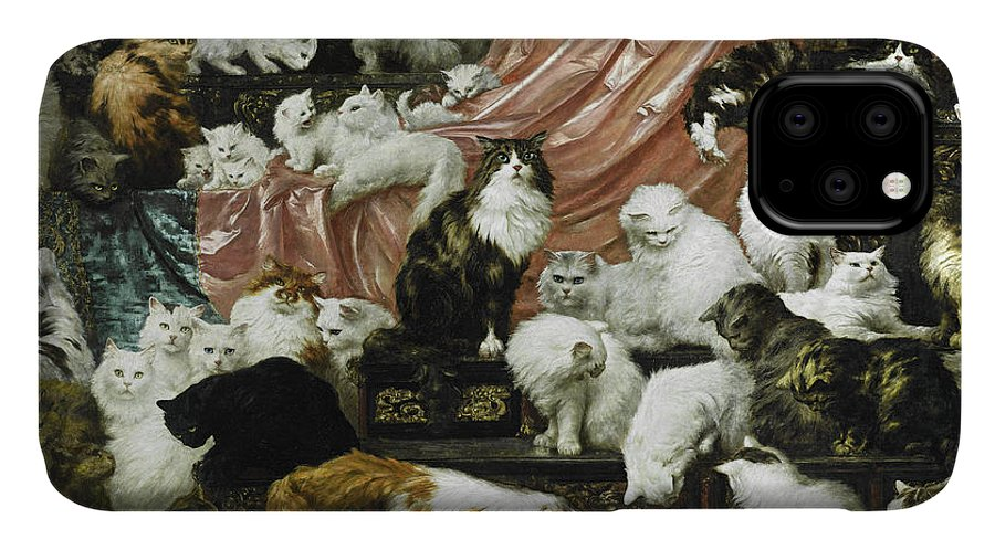 Carl Kahler IPhone Case featuring the painting My Wife's Lovers by Carl Kahler