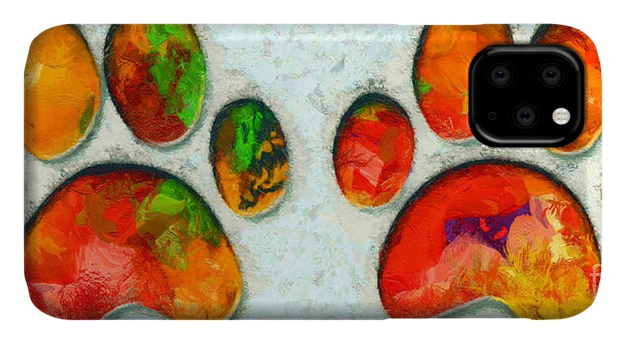 Cat Paw IPhone Case featuring the photograph My Cat Paw by Stefano Senise