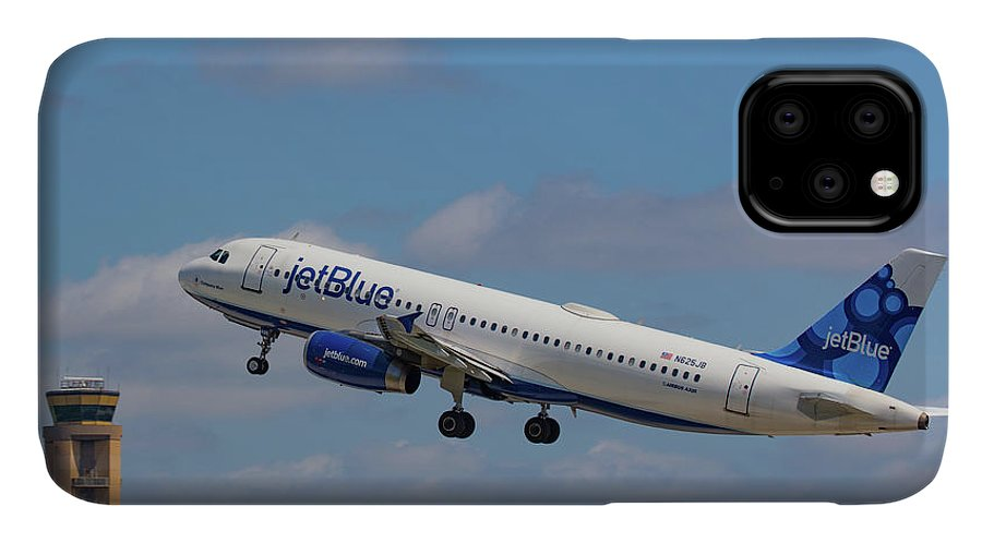 N625jb IPhone Case featuring the photograph N625JB Jetblue at FLL by Dart and Suze Humeston