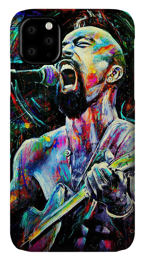 Robyn Chance IPhone 11 Case featuring the painting Nahko by Robyn Chance