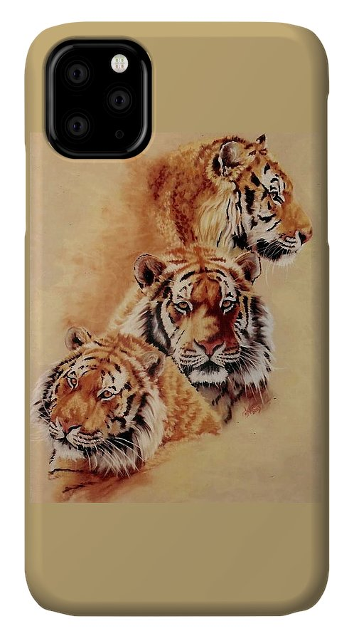 Tiger IPhone Case featuring the pastel Nanook by Barbara Keith