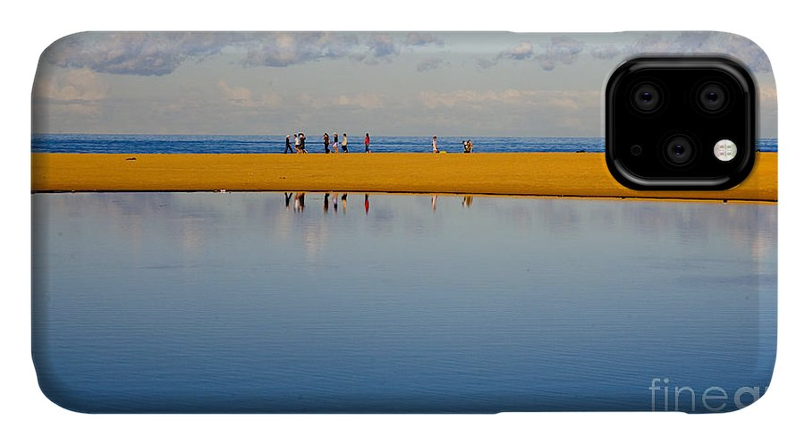 Dunes Lowry Sand Sky Reflection Sun Lifestyle Narrabeen Australia IPhone Case featuring the photograph Narrabeen dunes by Sheila Smart Fine Art Photography