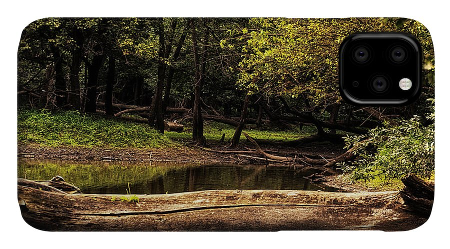 River IPhone Case featuring the photograph Natural Seating By River by Thomas Woolworth