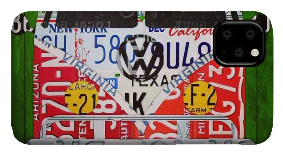 Faaartist IPhone Case featuring the photograph New #vw License Plate Art Series Out On by Design Turnpike