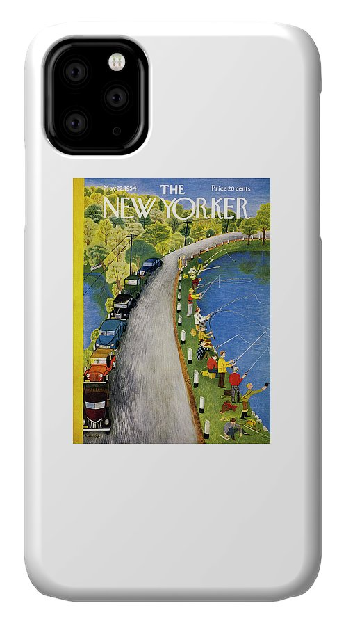 Weekend IPhone Case featuring the painting New Yorker May 22 1954 by Ilonka Karasz