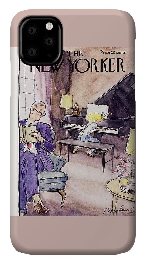 Father IPhone Case featuring the painting New Yorker November 12 1955 by Perry Barlow