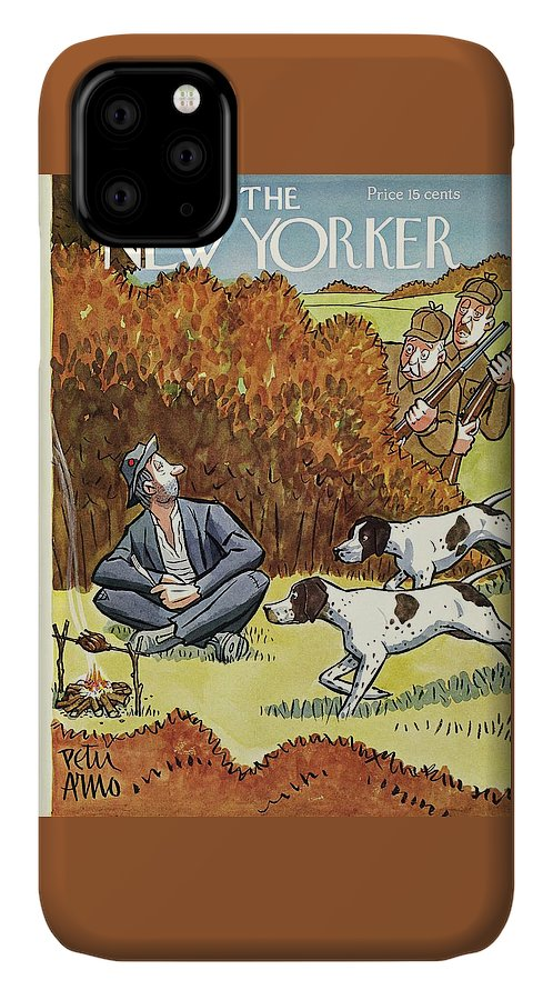 Hunters IPhone Case featuring the painting New Yorker November 8 1941 by Peter Arno
