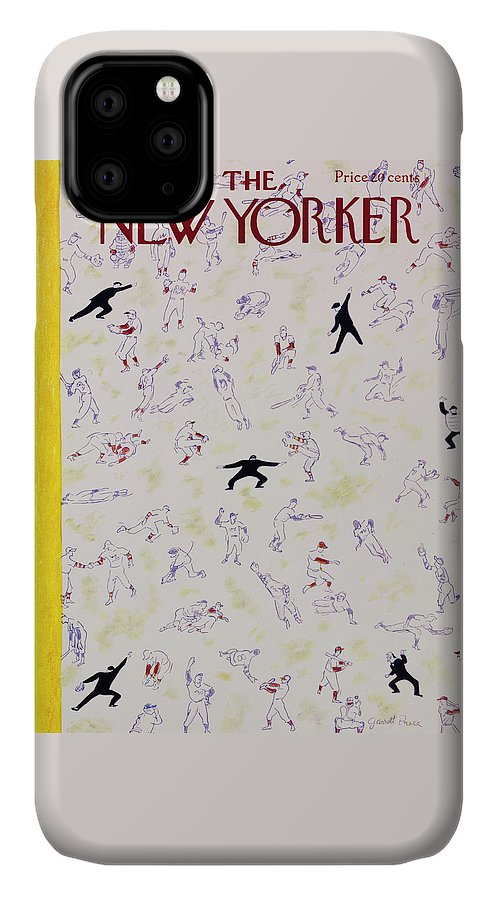 Baseball IPhone 11 Case featuring the painting New Yorker October 1 1955 by Garrett Price