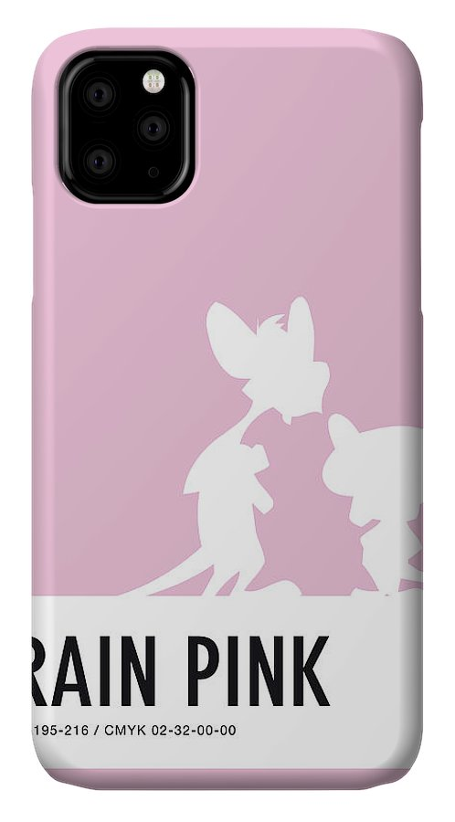 Looney IPhone Case featuring the digital art No01 My Minimal Color Code poster Pinky and the Brain by Chungkong Art