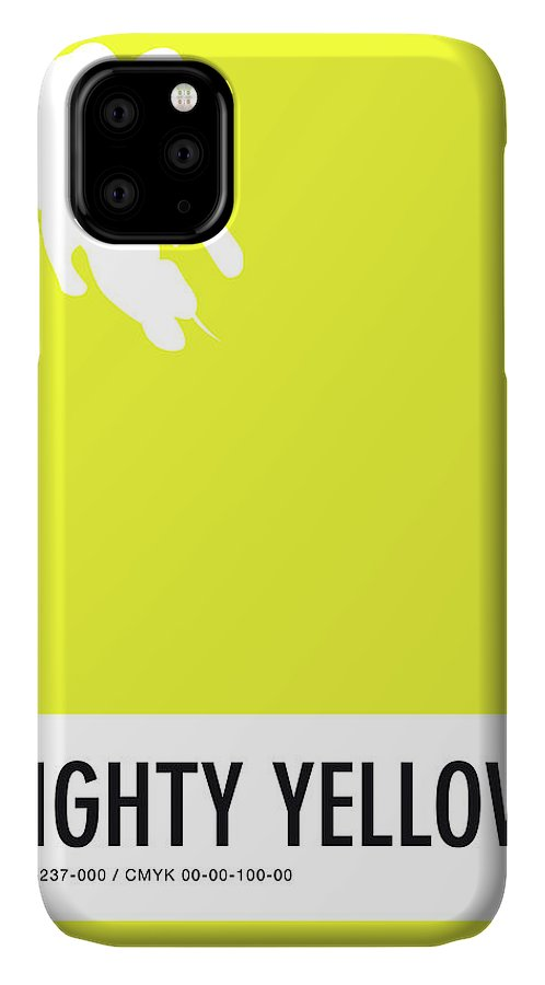 Looney IPhone Case featuring the digital art No02 My Minimal Color Code poster Mighty Mouse by Chungkong Art