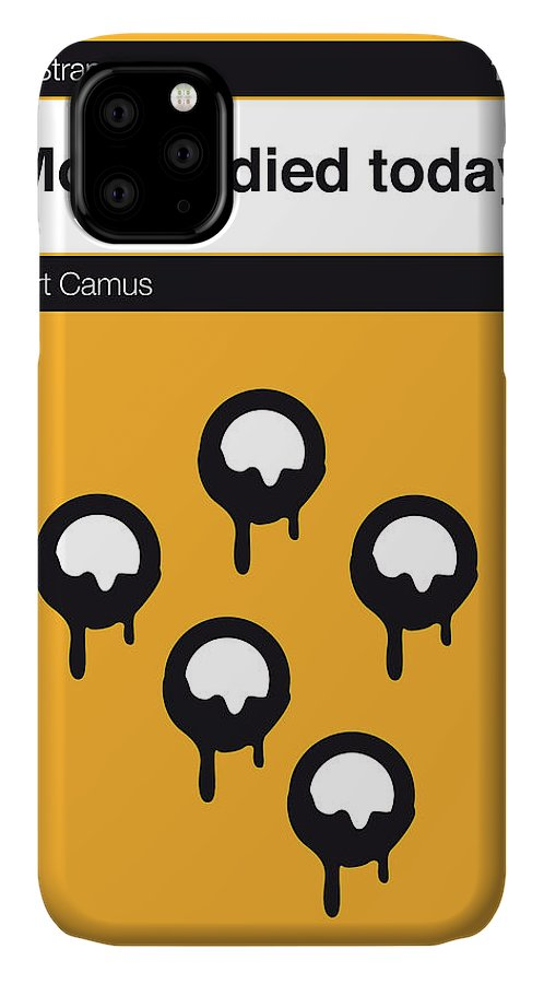 Albert IPhone Case featuring the digital art No028-my-the Stranger -book-icon-poster by Chungkong Art
