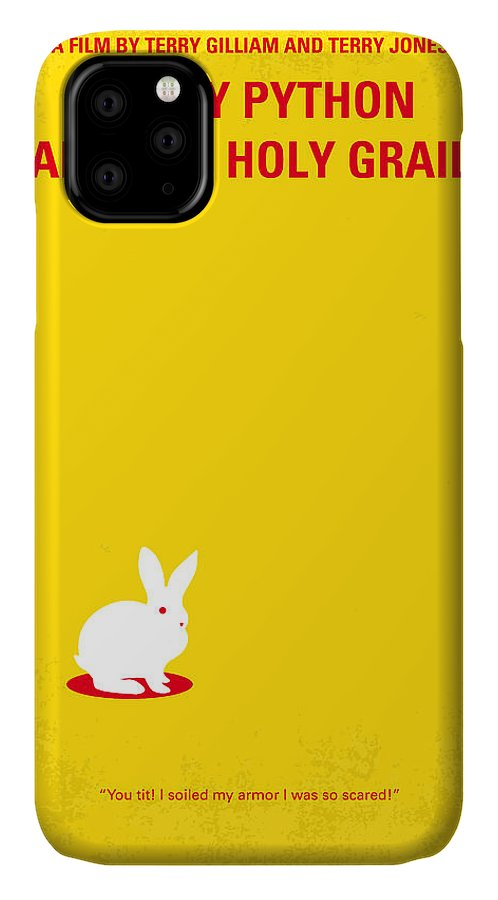 Monty IPhone 11 Case featuring the digital art No036 My Monty Python And The Holy Grail Minimal Movie Poster by Chungkong Art